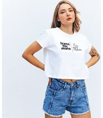 camiseta amplia corta manga corta mini