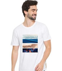 camiseta sandro clothing life branco - branco - masculino - dafiti