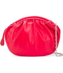 rodo ruched clutch bag - red