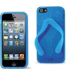 reiko reiko iphone se/ 5s/ 5 silicone slipper sandal case in blue