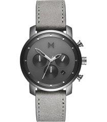 reloj análogo gris mvmt