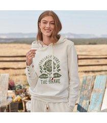 sundance catalog women's coraline sweatshirt in ivory 2xl
