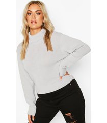 plus crop top met col, zilver