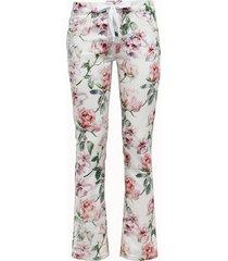 laneus jeans roses con lacci