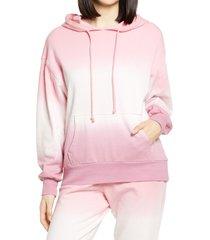 women's bp. oversized hooded sweatshirt, size medium - pink