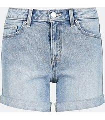high waist shorts i denim - ljusblå