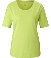 shirt ronde hals en korte mouwen van basler groen