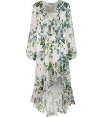 asymmetrical skirt floral print dress