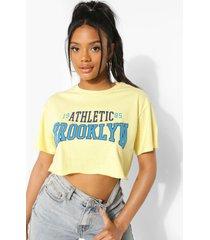 petite kort brooklyn t-shirt, yellow