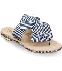sandalias  azul bata wences r mujer