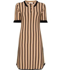 see by chloé striped collared dress - neutrals