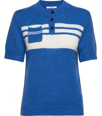 clementine pullover t-shirts & tops knitted t-shirts/tops blauw lovechild 1979