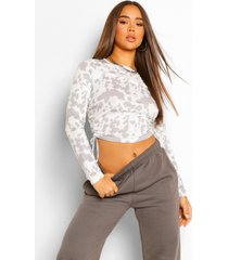 geplooide tie dye top, pale grey