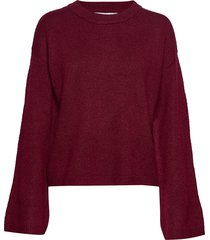 flared sleeve knit stickad tröja röd ivyrevel