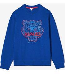 kenzo men's icon neon colour sweatshirt - blue - xxl - blue
