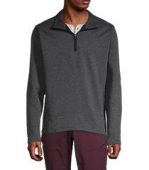 bonobos golf men's slim-fit half-zip golf pullover - heather charcoal - size m