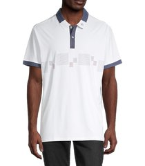 original penguin men's line-print polo - bright white - size xxxl