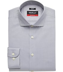 awearness kenneth cole awear-tech gray slim fit dress shirt