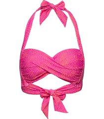 twist soft cup halter bikinitop rosa seafolly