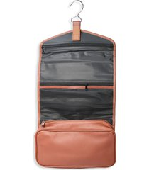 royce new york hanging leather makeup case - light pink