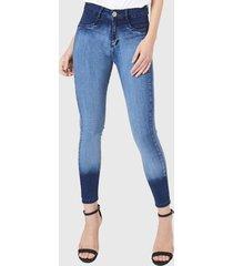 jeans pitillo high waist azul amalia jeans