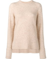 3.1 phillip lim ls lofty raglan pullover - neutrals