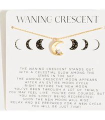 waning crescent moon pendant necklace - ivory