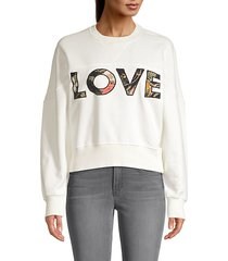 tropical love patch sweatshirt
