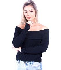 blusa up side wear babado preta