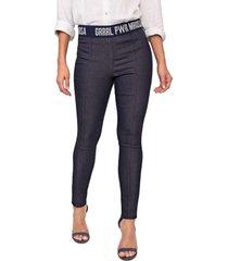 calça jeans morena rosa jegging amanda azul-marinho