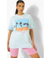 oversized california palmboom t-shirt, pale blue