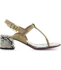 lautre chose gold python thong sandal