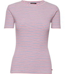 fitted tee in rib qty t-shirts & tops short-sleeved rosa scotch & soda