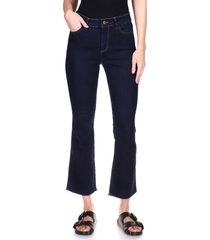 women's dl1961 bridget instasculpt high waist crop bootcut jeans, size 25 - blue