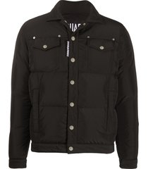 dsquared2 padded button-front jacket - black