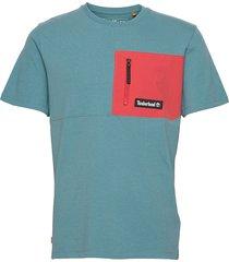 yc ss oa mm tee reg t-shirts short-sleeved blå timberland