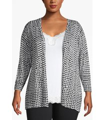 lane bryant women's open front cardigan 26/28 black and white