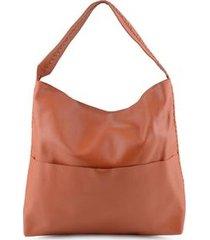 bolsa saco enfiados handmade laranja. laranja./un