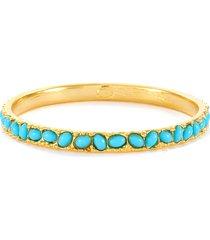 turquoise cabochon slim bracelet