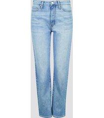 mom fit straight jeans - ljusblå