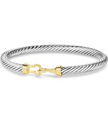 david yurman cable classic buckle bracelet, size x-small in two tone at nordstrom