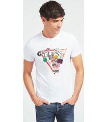 bawełniany t-shirt z trójkątnym logo
