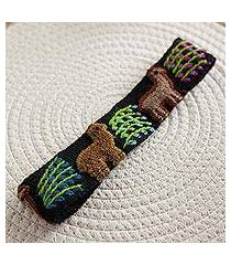 wool headband, 'llama parade' (peru)