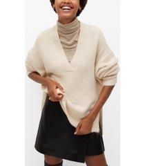 mango women's v-neck sweater