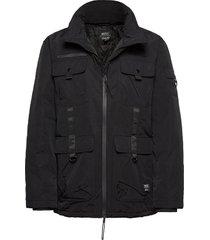 weather resistant utility jacket fodrad jacka svart wesc
