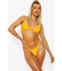essentials opgeknoopte driehoekige bikini top, orange
