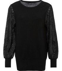 maglione con maniche di pizzo (nero) - bodyflirt