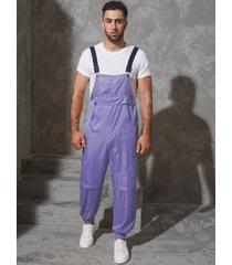 tirantes informales con bolsillos grandes para hombre mono monos pantalones
