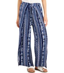 style & co plus size striped pull-on pants, created for macy's
