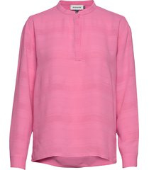 dheden blouse blouse lange mouwen roze denim hunter